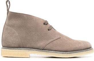 Brunello Cucinelli Monili Trim Ankle Boots