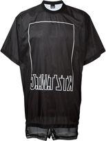 Kokon To Zai logo print mesh inset T-shirt - men - Nylon - M