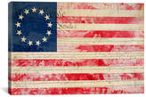 iCanvas Flags Betsy Ross, U.S. Flag 13 Stars Graphic Art on Canvas