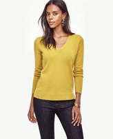 Ann Taylor Petite Cashmere V-Neck Sweater
