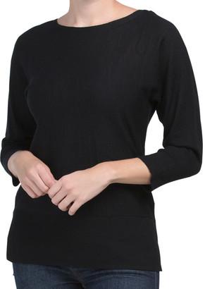 Extra Fine Merino Wool Dolman Sleeve Sweater