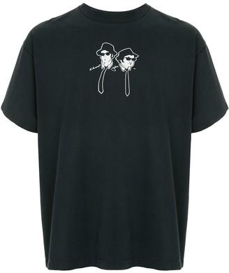 Fake Alpha Vintage Blue Brothers print T-shirt