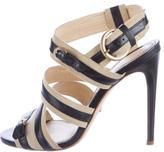 Jerome C. Rousseau Grosgrain Multistrap Sandals