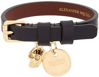 Alexander McQueen Leather Wrap Bracelet