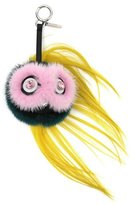 Fendi Beak Mohawk Fur Monster Charm for Handbag, Pink/Blue/Yellow
