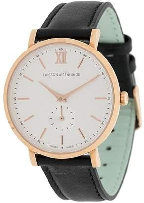 Larsson & Jennings Jura 38mm Leather strap watch
