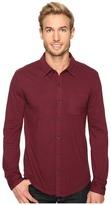 Mod-o-doc Summerland Knit Long Sleeve Jersey Button Front Shirt