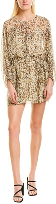IRO Caprio Sheer Silk Mini Dress