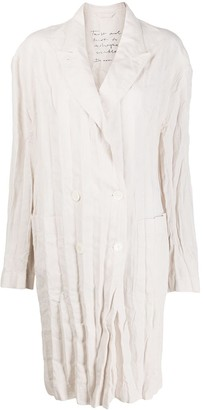 Acne Studios Double-Breasted Creased Linen Coat