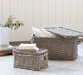 Pottery Barn Aubrey Woven Lidded Baskets