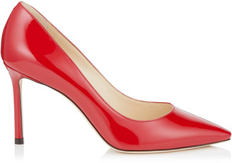 Jimmy Choo ROMY 85 Red Patent Pointy Toe Pumps