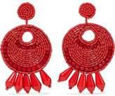 Kenneth Jay Lane Beaded Gold-Tone Clip Earrings