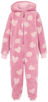 Fat Face Children's Piglet Fleece Onesie, Rose