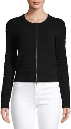HUGO Textured Zip-Front Jacket