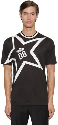 Dolce & Gabbana STAR SUPER LIGHT JERSEY T-SHIRT