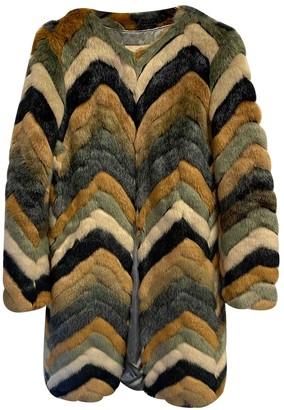 Urban Code Urbancode Multicolour Faux fur Coat for Women