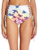 Mara Hoffman Women's Prismatic High-Waist Lace-Up Bikini Bottom