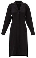 Thumbnail for your product : Proenza Schouler Hammered-crepe Shirt Dress - Black