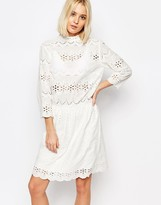 Gestuz Risa Dress in Broderie Anglaise