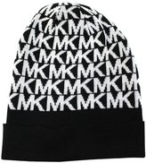 Michael Kors New Monogram /White Beanie Winter Snow Hat Men/Women
