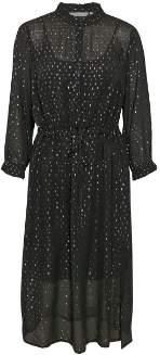 Part Two - Long Black Torid Dress - viscose   black   36 - Black/Black