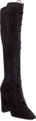 Saint Laurent Laura Lace-Up Over-The-Knee Boots