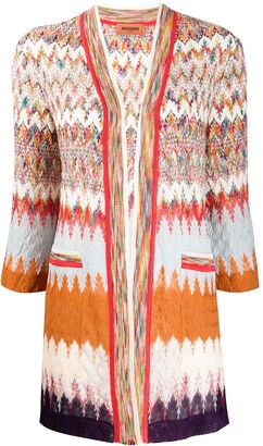 Missoni Long Line Crochet-Knit Cardigan