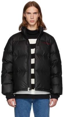 Alexander Wang Black Down Pleather Chynatown Puffer Jacket