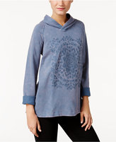Style&Co. Style & Co. Petite Embroidered Hoodie, Only at Macy's