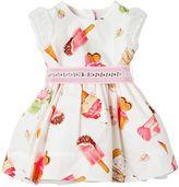 MonnaLisa Ice Cream Printed Cotton Poplin Dress