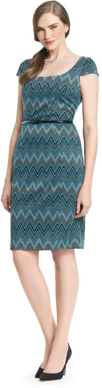Anne Klein Glen Plaid Ponte Sheath Dress