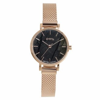 OWL Women's Analogue Japanese Quartz Watch with Stainless Steel Strap A10MRPJ