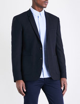 Sandro Regular-fit notch lapel wool-blend jacket
