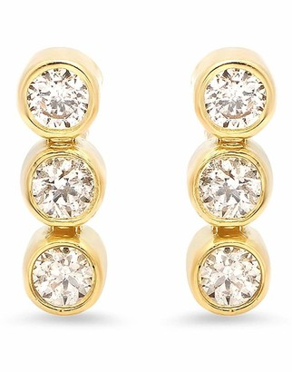 Jennifer Meyer 3 Mini Diamond Bezel Studs