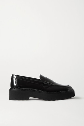 Tod's Patent-leather Platform Loafers - Black