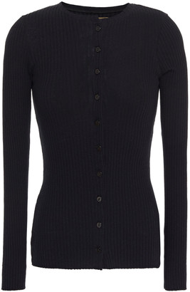 Enza Costa Ribbed Cotton And Cashmere-blend Cardigan