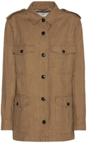 Closed Blade Cotton And Linen Jacket