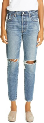 Moussy Beckton Ripped Tapered Jeans