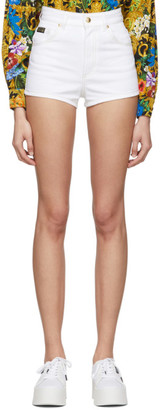 Versace Jeans Couture White Denim Hot Shorts