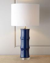 Horchow Blue Ceramic Lamp