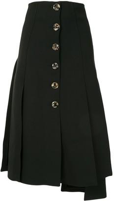 A.W.A.K.E. Mode Asymmetric Flared Midi Skirt