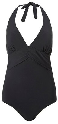 Dorothy Perkins Womens Dp Beach Black Ruched Front Swimsuit, Black