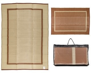 Overstock Courtyard Collection Reversible Indoor/Outdoor Mat Area Rug w/ Bag