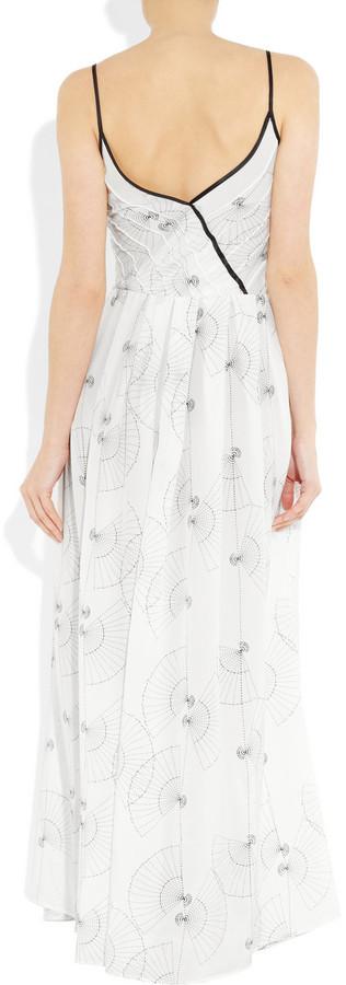 Piamita Zelda printed silk maxi dress