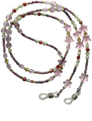 Eyewearstraps NEW Stunning Star Pink Pearl & Green Glass Beaded Eye Glasses Sunglasses Chain Strap Holder