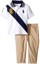Ralph Lauren Basic Mesh Jogger Pants Set (Infant)