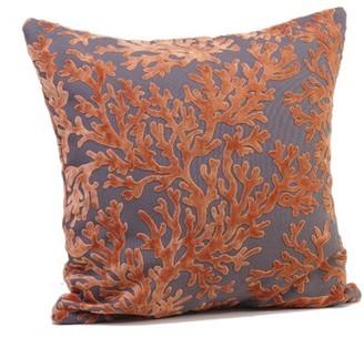 """Tropez Rennie & Rose Design Group St. Throw Pillow Rennie & Rose Design Group Size: 17"""" H x 17"""" W x 4"""" D, Color: Salmon"""