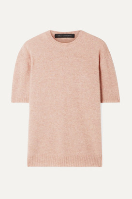 Sally LaPointe Cashmere And Silk-blend Sweater - Blush
