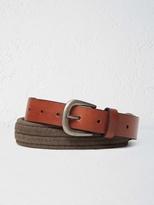 White Stuff Elastic leather belt