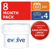 Aqua Optima Evolve 60 Day Water Filter - 4 Pack